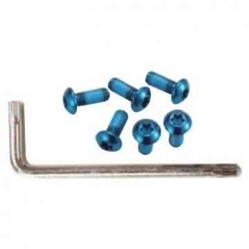 Гвинти Alligator для кріплення ротора Torx 6 шт + ключ синій