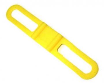 Силиконовое крепление фонарика на велосипед желтый