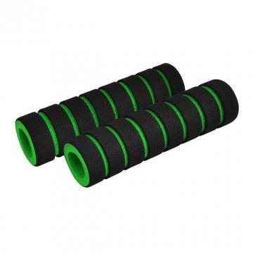 Ручки руля FOUMY пеновые черно-зеленые
