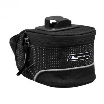 Подседельная сумка CARIE QR 1,0L защелка, черная