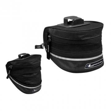 Подседельная сумка EXPAND QR 1,9/2,8L защелка, раскладывающаяся, черная
