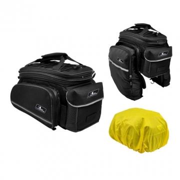Сумка на багажник INCREASER 7,8L боковые карманы, черн
