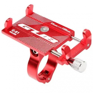 Тримач гаджета GUB G-81 на кермо алюмінієвий. червоний