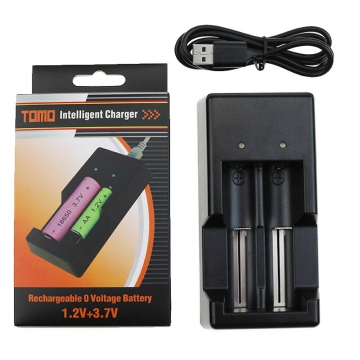 Зарядное устройство для 2х аккумуляторов (1.2-3.7) V