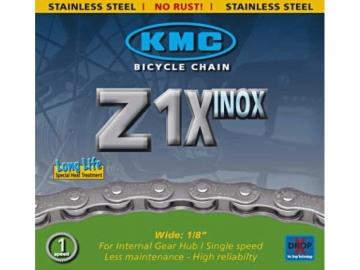 "Ланцюг KMC Z1X (S10) ""INOX"" 1/2х1/8х112L, 1швид."