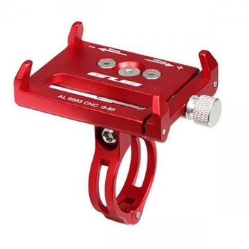 Тримач гаджета GUB G-85 на кермо/винос алюмінієвий. червоний