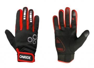Рукавички ONRIDE Pleasure 20 колір чорний/червоний розмір M