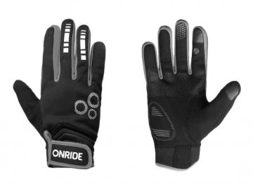 Рукавички ONRIDE Pleasure 20 колір чорний/сірий розмір M