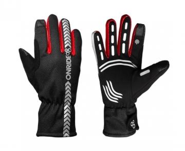 Рукавички ONRIDE Kaplan колір червоний/чорний розмір M