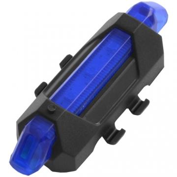 Синяя мигалка на велосипед USB, встроенный аккумулятор Li-ion