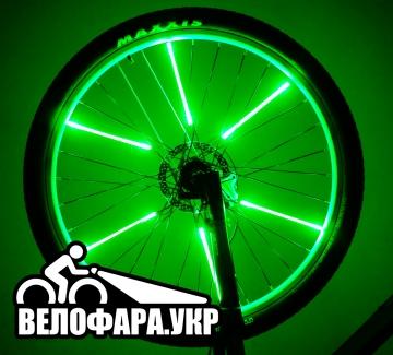 Зеленая подсветка колес