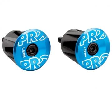 Вставки в руль (пара), анодированные, синие