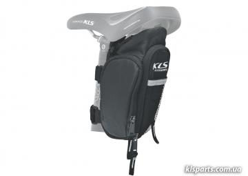 Сумка подседельная KLS Dapper (обьем 1,3 + 0,4 л) черная