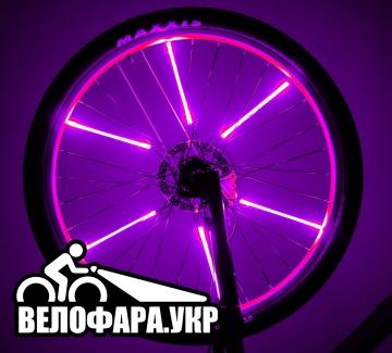 Подсветка колес фиолетовая