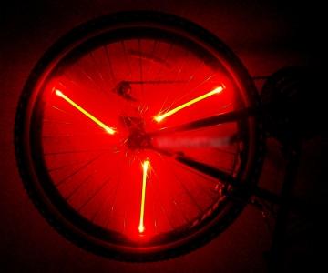 Освещение для колес велосипеда