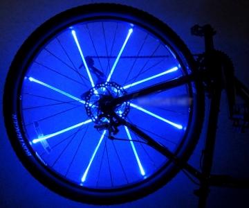 Синий свет для колес велосипеда