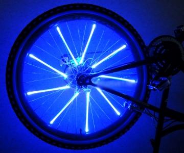 Светящиеся синие трубки для колес велосипед