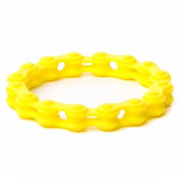 Браслет цепь желтый